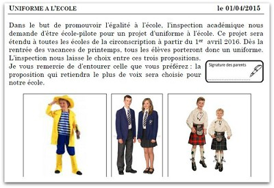 blagues 1er avril ecole