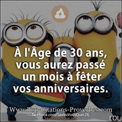 blagues 30 ans