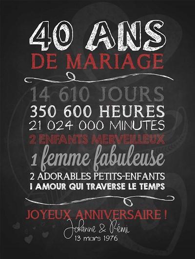 blagues 40 ans de mariage