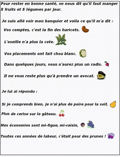blagues 5 fruits et legumes