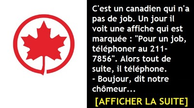 blagues canadiennes