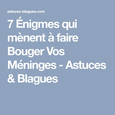 blagues enigmes