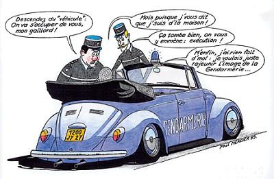 Blagues gendarmes - Gendarme dessin ...