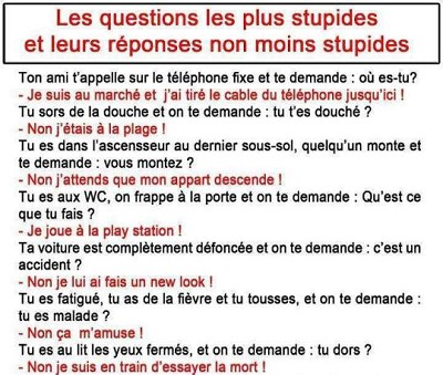 blagues questions reponses